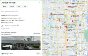 Google My Business page management and creation for fence contractors